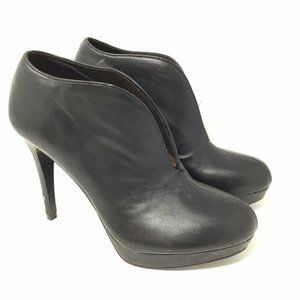Audrey Brooke Women's Black Ankle Booties Heels 8